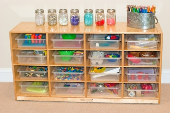 This is an example of our learning trays.