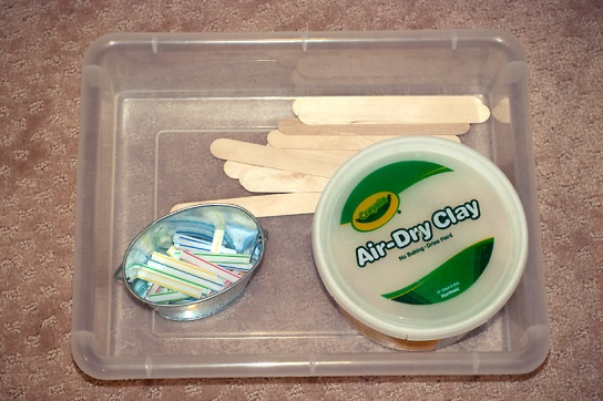 sensory, art, clay, fine motor tray