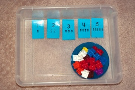math, counting, number sense tray
