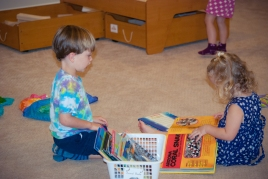 There are lots of books to explore!