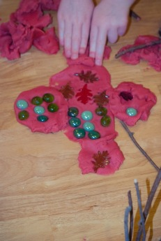 """""""I made a forest"""" with my play dough."""