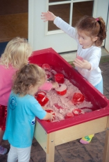 """""""Cloud Dough"""" is a wonderful sensory texture! It is a simple mixture of flour and oil."""
