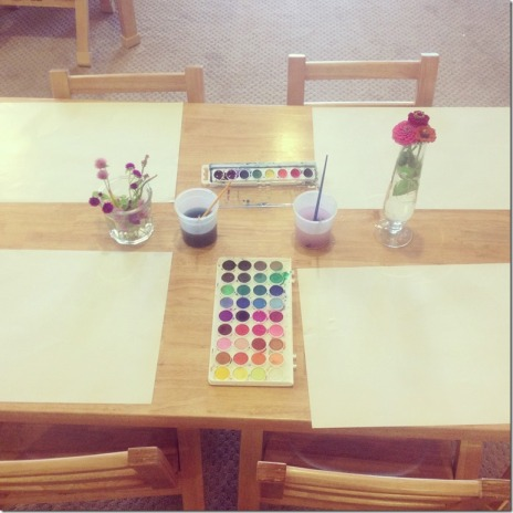 Invitation to paint with watercolors