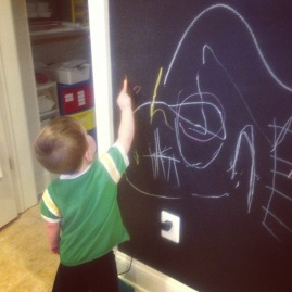 Crozet PlaySchool's chalkboard wall