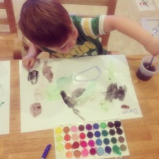 D painting with watercolors