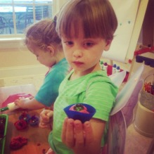 Making play dough cupcakes!