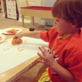 Pumpkin stamping