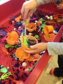 Water beads in the sensory table