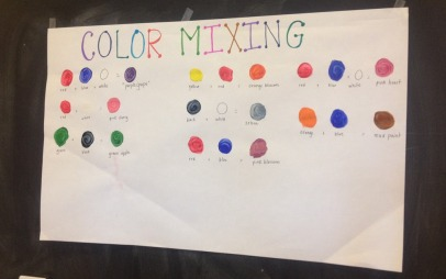 mixing our own paint colors