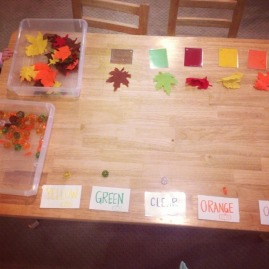 color matching with felt leaves