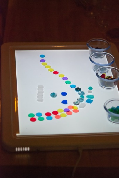 light table and loose parts