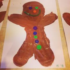 puffy paint gingerbread men