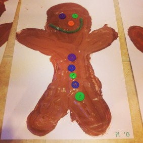 puffy paint gingerbread men