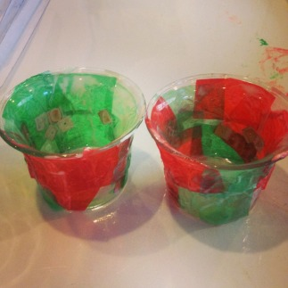 Christmas votive candles