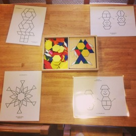 Our winter themed pattern block activities