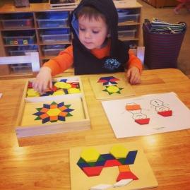 D using pattern blocks and pattern block boards