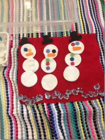 P's finished snowmen