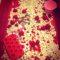 Valentine's Day bean and sensory bin