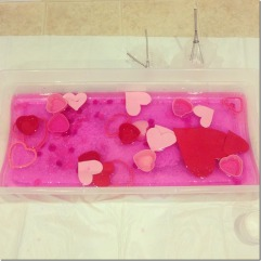 Valentine's Water tub