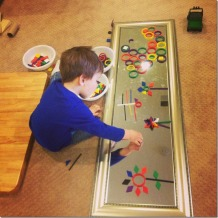 exploring with mirrors and blocks