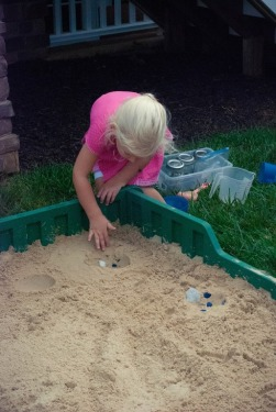 C working on her sandcasting