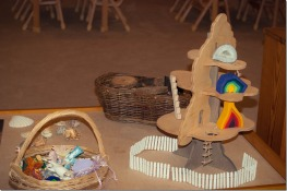Beautiful fairy house and loose parts