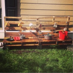 outdoor mud kitchen