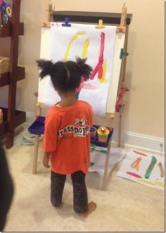 process art in the art studio