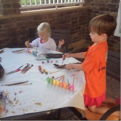 painting outside