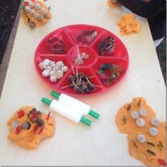fall themed play dough
