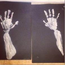 skeleton handprints