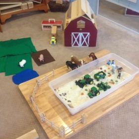sensory and pretend play areas