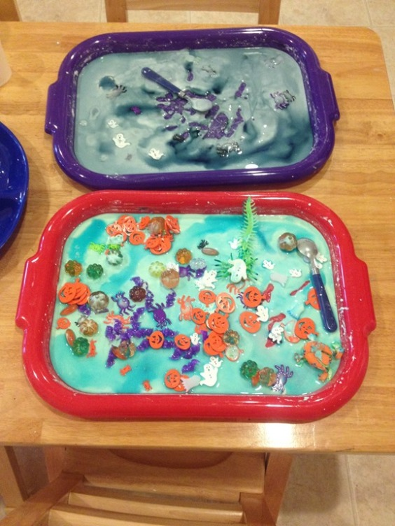 halloween goodies in the oobleck