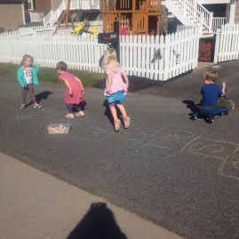 """using the """"outdoor classroom"""""""