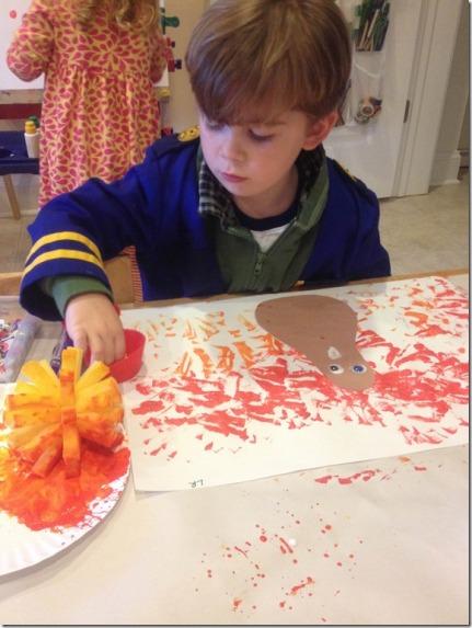 L making his turkey