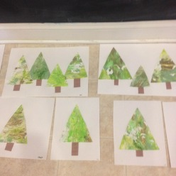 our beautiful marbled chirstmas trees