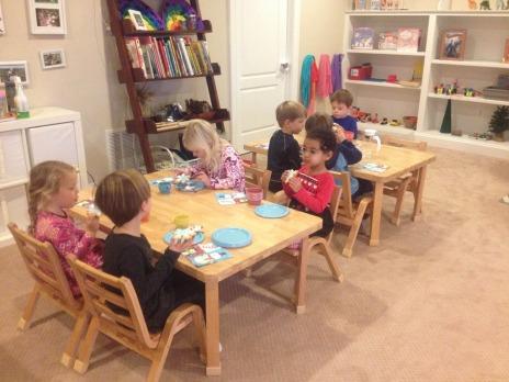 children celebrating birthdays together