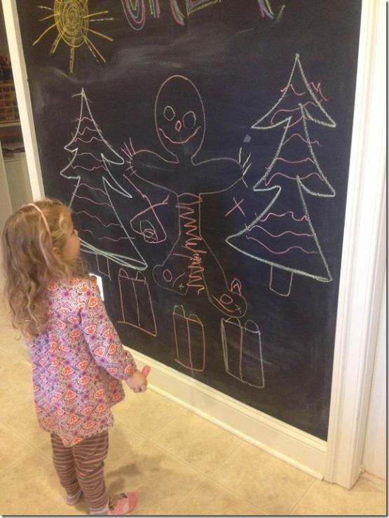 indoor chalkboard area