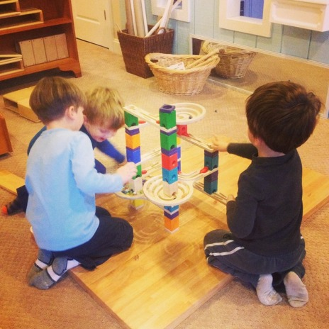 thoughtful materials, wooden marble run