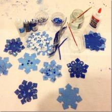 invitation to make snowflakes