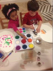 Painting with Tempera Cakes