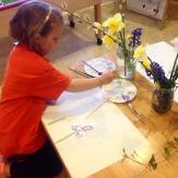 Still life painting flowers