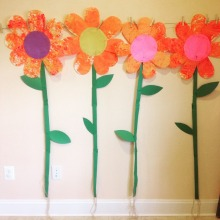 large scale flowers using various brushes!