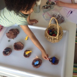 """mud play dough"" with birds"