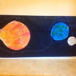 large scale solar system artwork!