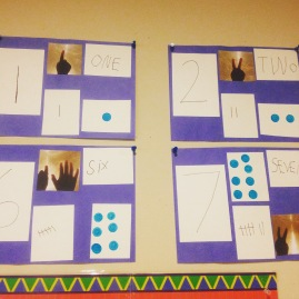 number line created by the children