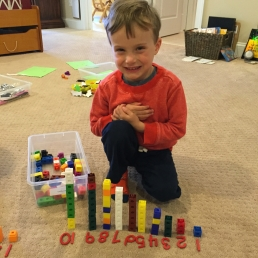 traditional materials for letter and number exploration