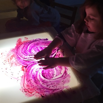 Light panel painting