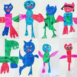 Eric Carle inspired animals