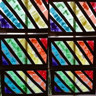 rainbow window art
